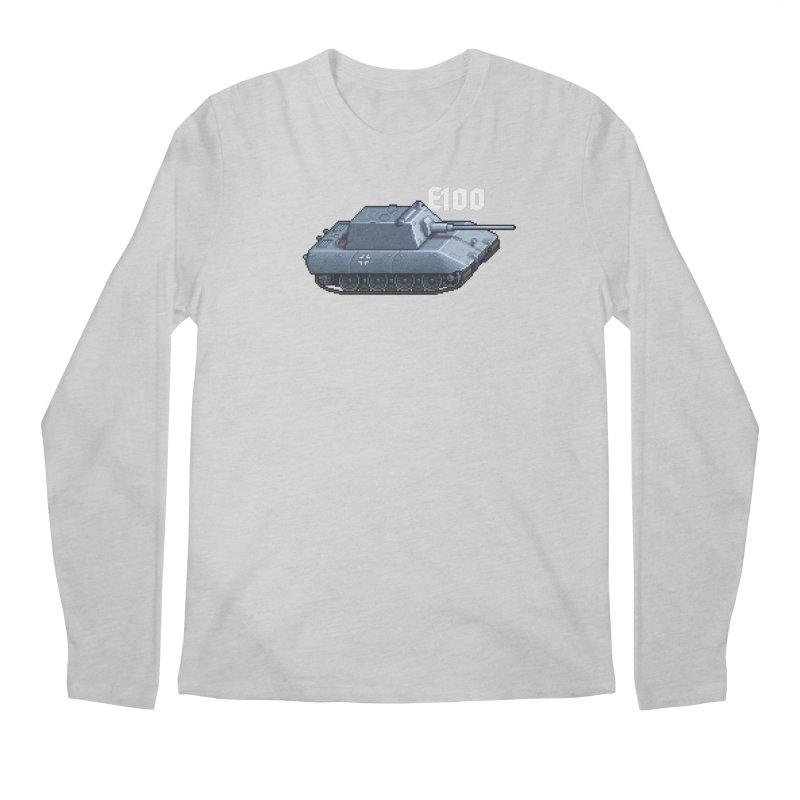 E-100 Krupp Men's Regular Longsleeve T-Shirt by Pixel Panzers's Merchandise