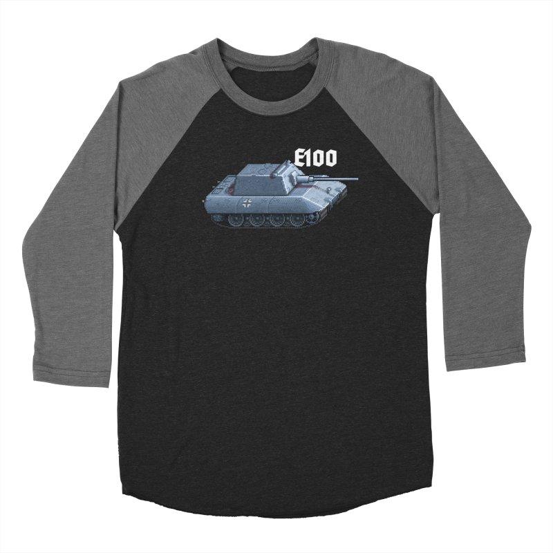 E-100 Krupp Men's Baseball Triblend Longsleeve T-Shirt by Pixel Panzers's Merchandise