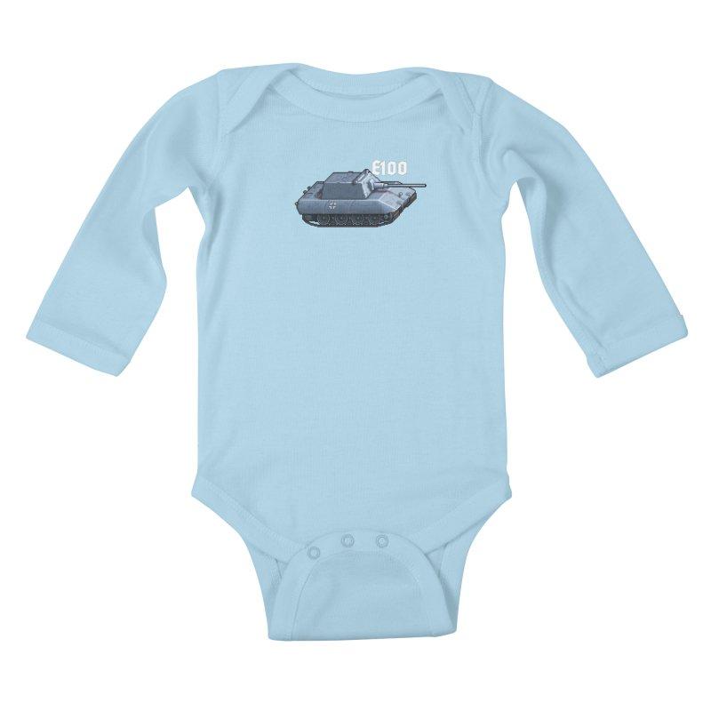E-100 Krupp Kids Baby Longsleeve Bodysuit by Pixel Panzers's Merchandise