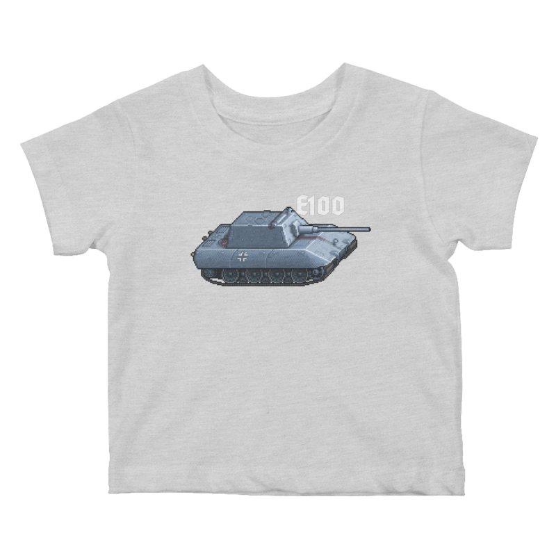 E-100 Krupp Kids Baby T-Shirt by Pixel Panzers's Merchandise