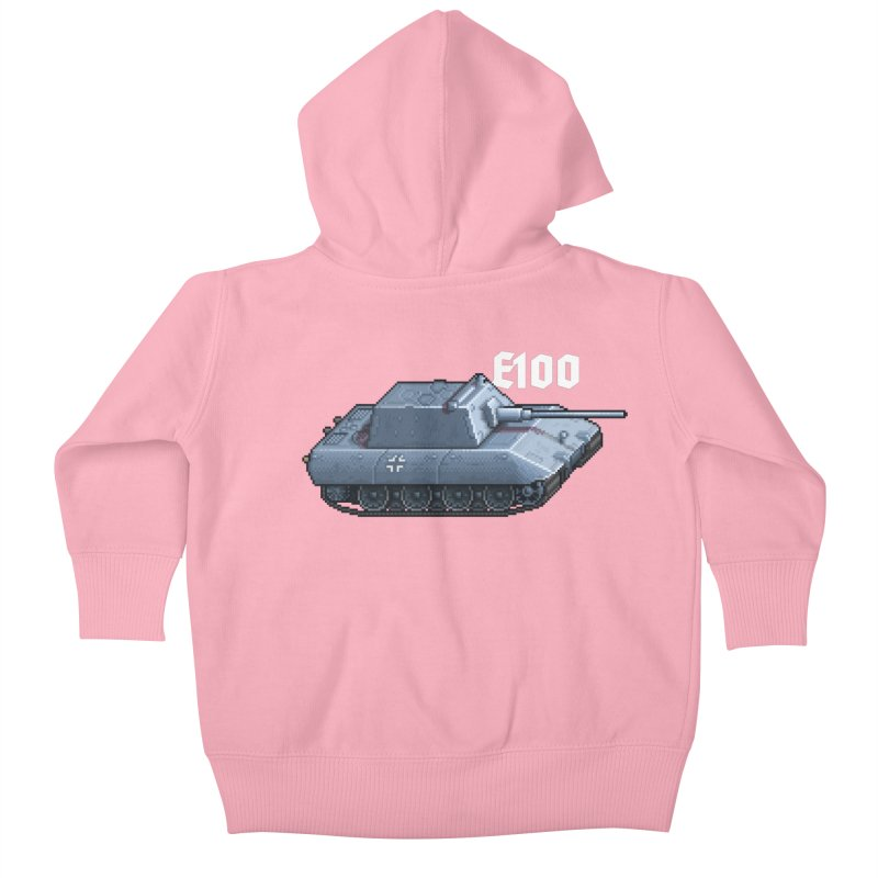 E-100 Krupp Kids Baby Zip-Up Hoody by Pixel Panzers's Merchandise