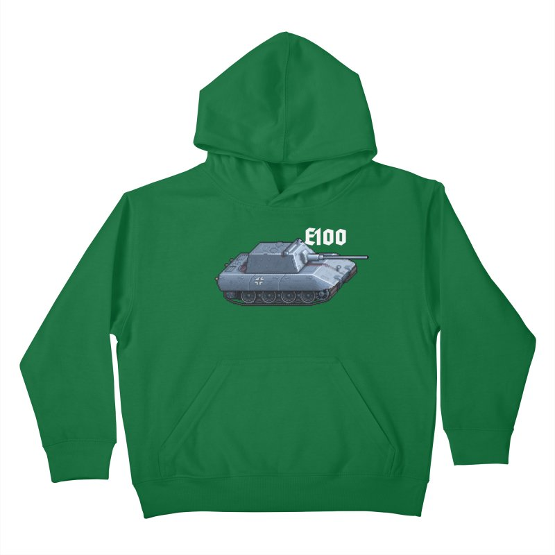 E-100 Krupp Kids Pullover Hoody by Pixel Panzers's Merchandise