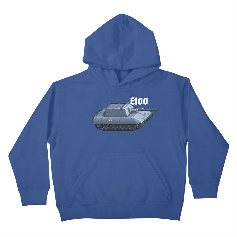 E-100 Krupp Kids Pullover Hoody by Pixel Panzers's Merchandise