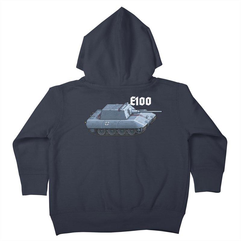 E-100 Krupp Kids Toddler Zip-Up Hoody by Pixel Panzers's Merchandise