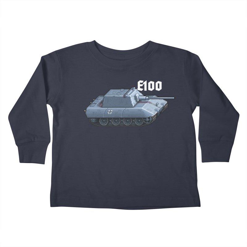 E-100 Krupp Kids Toddler Longsleeve T-Shirt by Pixel Panzers's Merchandise