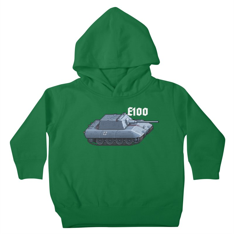 E-100 Krupp Kids Toddler Pullover Hoody by Pixel Panzers's Merchandise