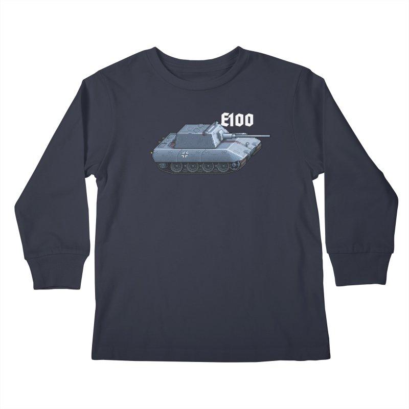 E-100 Krupp Kids Longsleeve T-Shirt by Pixel Panzers's Merchandise