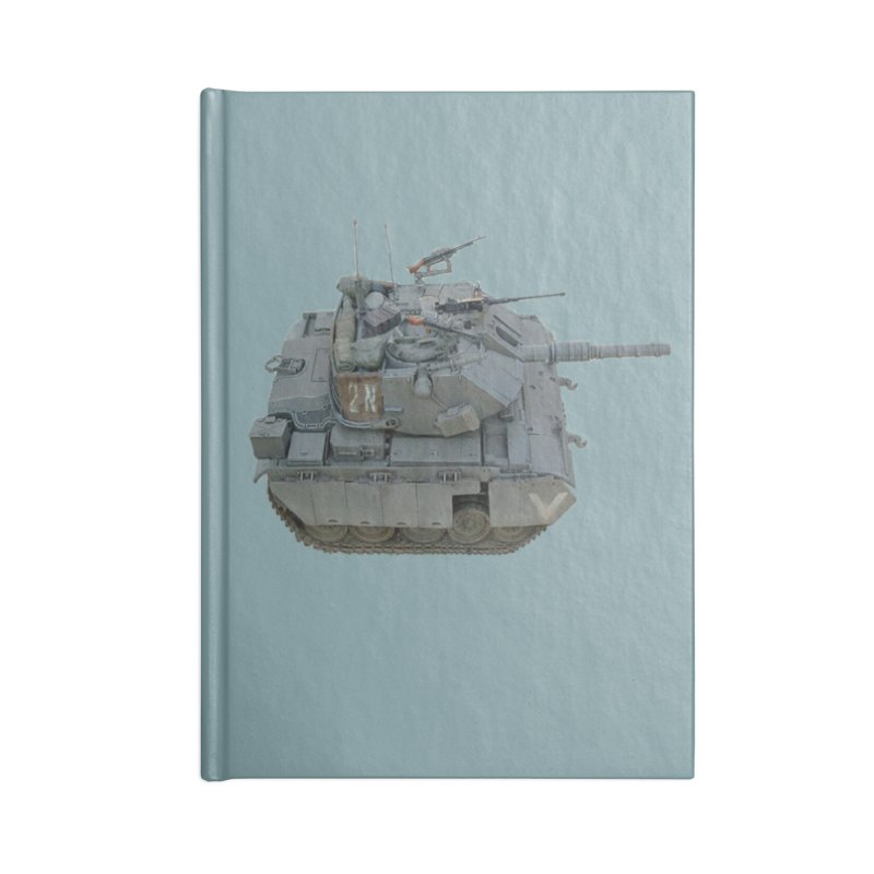 Magach 7C Mini Accessories Lined Journal Notebook by Pixel Panzers's Merchandise