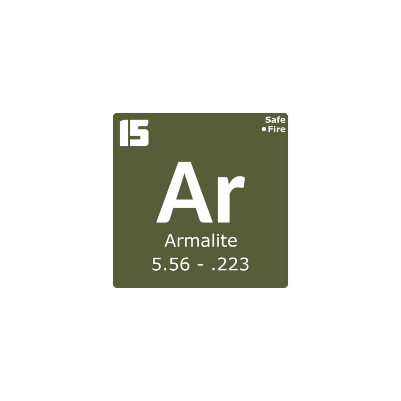 AR-15 Armalite Periodic Table by Pixel Panzers's Merchandise