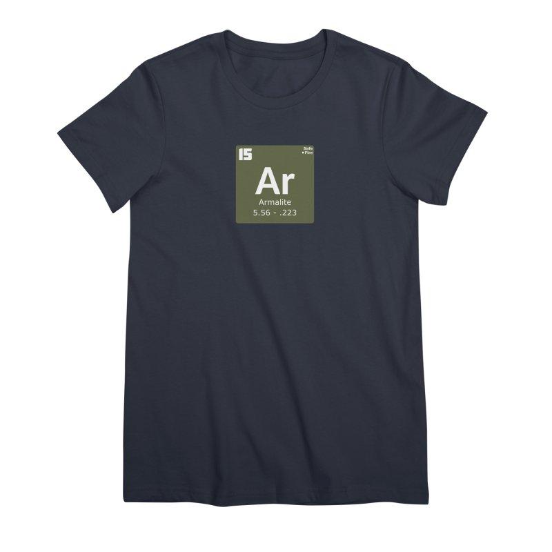 AR-15 Armalite Periodic Table Women's Premium T-Shirt by Pixel Panzers's Merchandise