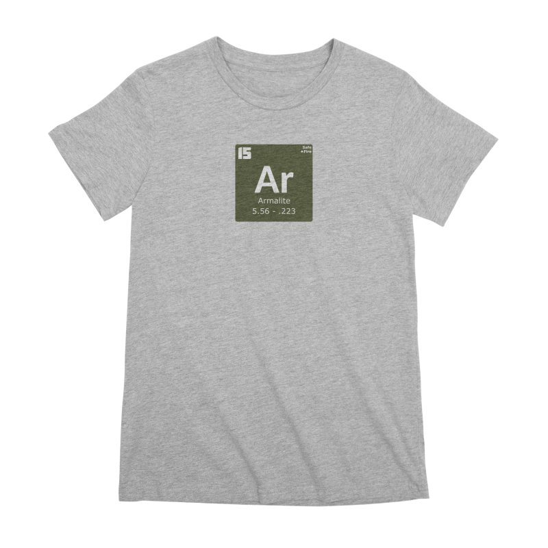 AR-15 Armalite Periodic Table Women's Premium T-Shirt by Pixel Panzers's Merchandise