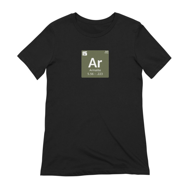 AR-15 Armalite Periodic Table Women's Extra Soft T-Shirt by Pixel Panzers's Merchandise