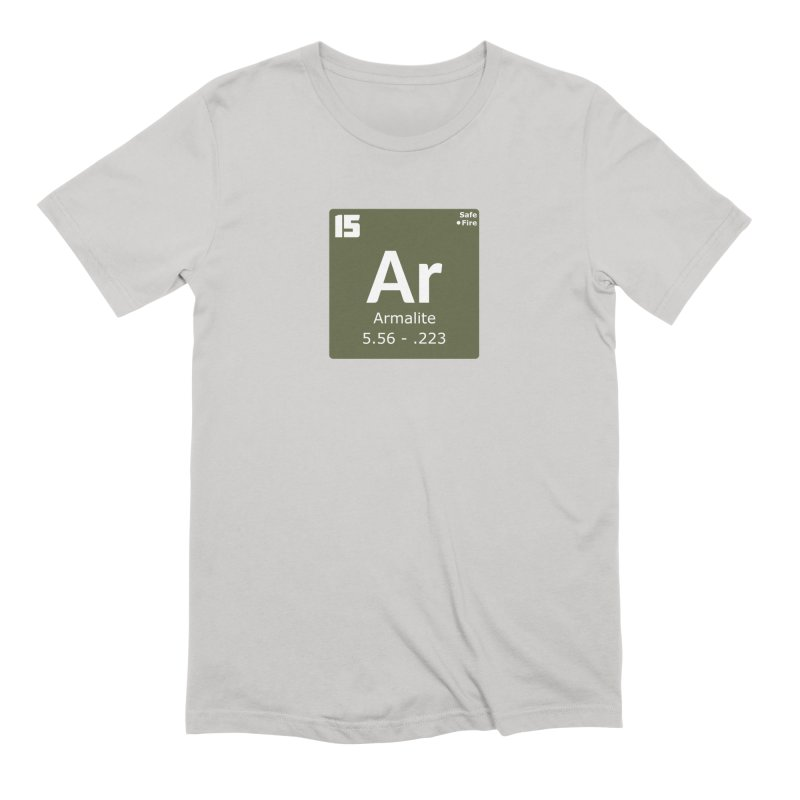 AR-15 Armalite Periodic Table Men's Extra Soft T-Shirt by Pixel Panzers's Merchandise