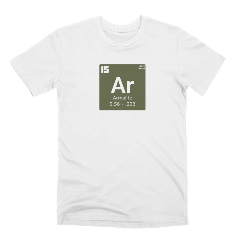 AR-15 Armalite Periodic Table Men's Premium T-Shirt by Pixel Panzers's Merchandise