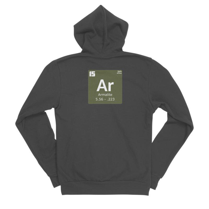 AR-15 Armalite Periodic Table Men's Sponge Fleece Zip-Up Hoody by Pixel Panzers's Merchandise