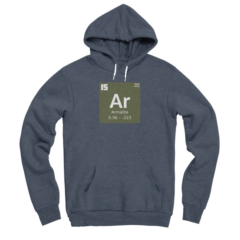 AR-15 Armalite Periodic Table Women's Sponge Fleece Pullover Hoody by Pixel Panzers's Merchandise