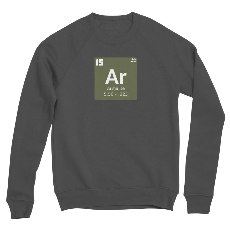 AR-15 Armalite Periodic Table Men's Sponge Fleece Sweatshirt by Pixel Panzers's Merchandise