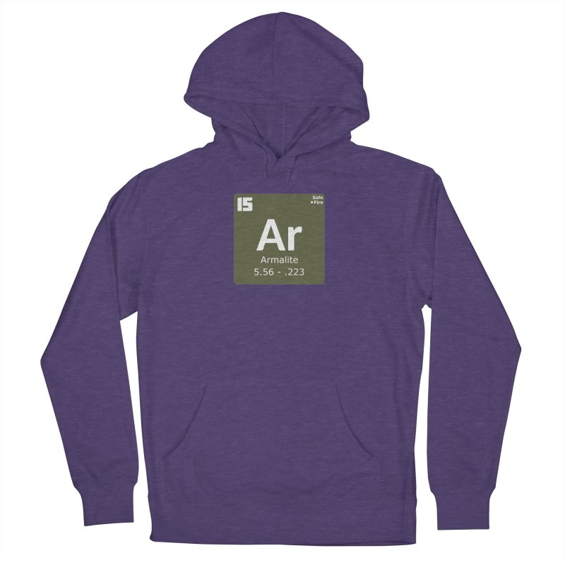 AR-15 Armalite Periodic Table Women's French Terry Pullover Hoody by Pixel Panzers's Merchandise
