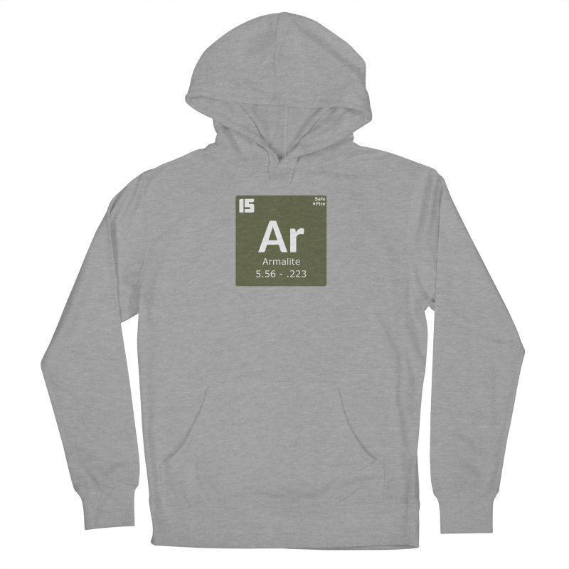 AR-15 Armalite Periodic Table Men's French Terry Pullover Hoody by Pixel Panzers's Merchandise