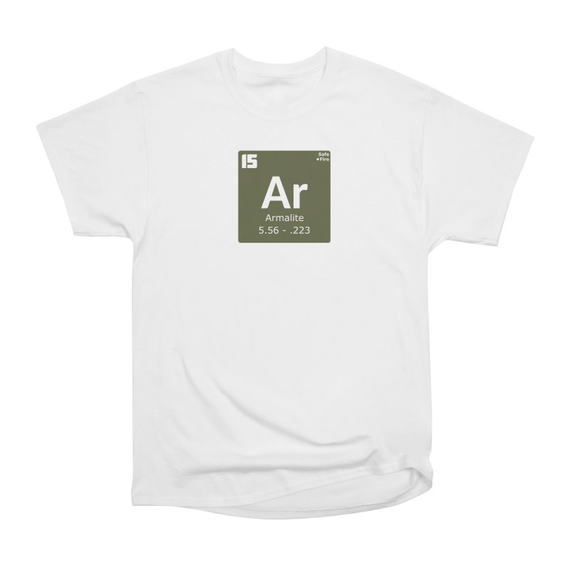AR-15 Armalite Periodic Table Men's Heavyweight T-Shirt by Pixel Panzers's Merchandise