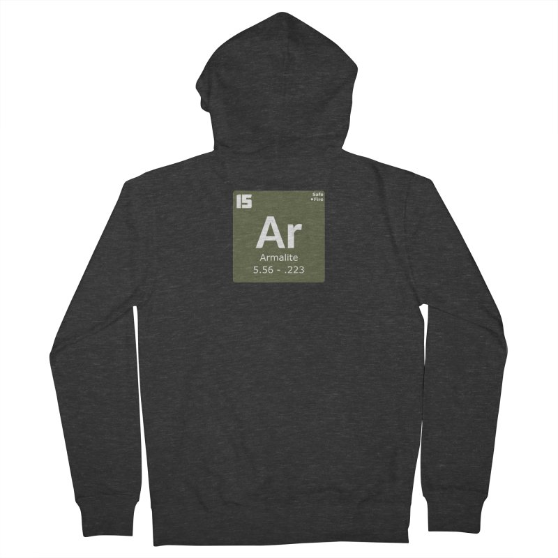 AR-15 Armalite Periodic Table Women's French Terry Zip-Up Hoody by Pixel Panzers's Merchandise