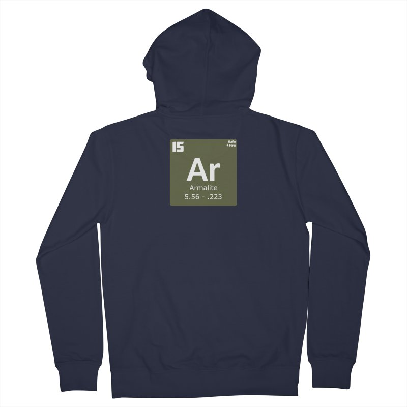 AR-15 Armalite Periodic Table Men's French Terry Zip-Up Hoody by Pixel Panzers's Merchandise