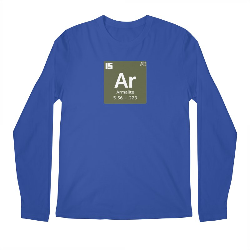 AR-15 Armalite Periodic Table Men's Regular Longsleeve T-Shirt by Pixel Panzers's Merchandise