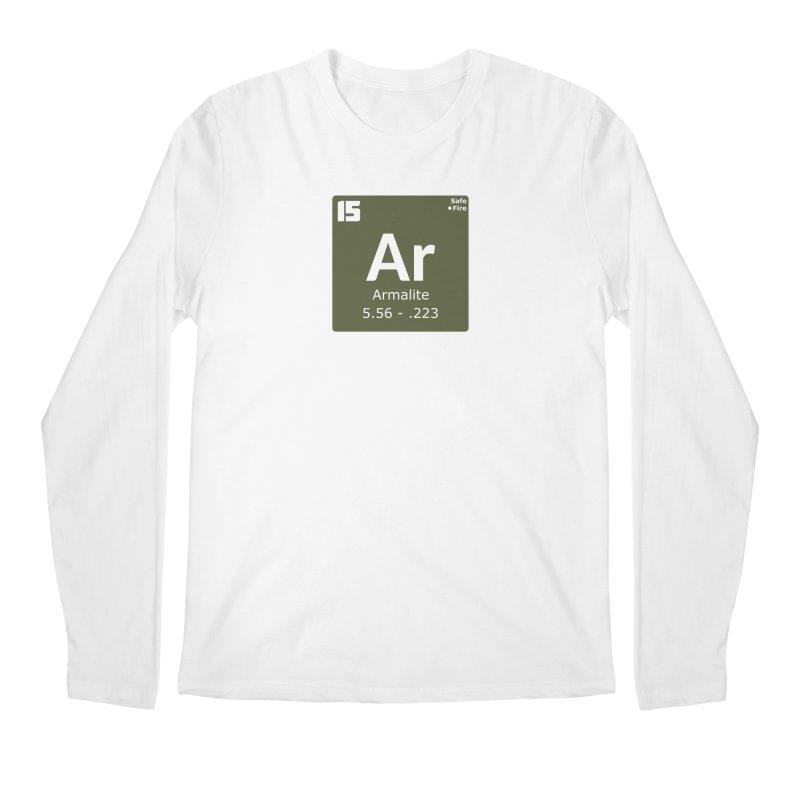 AR-15 Armalite Periodic Table Men's Regular Longsleeve T-Shirt by Pixel Panzers's Merchandise