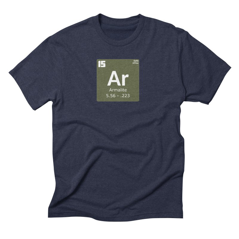 AR-15 Armalite Periodic Table Men's Triblend T-Shirt by Pixel Panzers's Merchandise