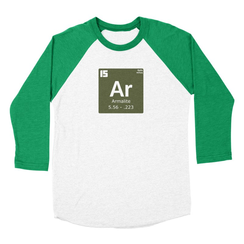 AR-15 Armalite Periodic Table Women's Baseball Triblend Longsleeve T-Shirt by Pixel Panzers's Merchandise