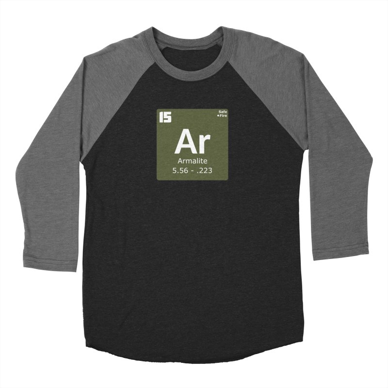 AR-15 Armalite Periodic Table Men's Baseball Triblend Longsleeve T-Shirt by Pixel Panzers's Merchandise