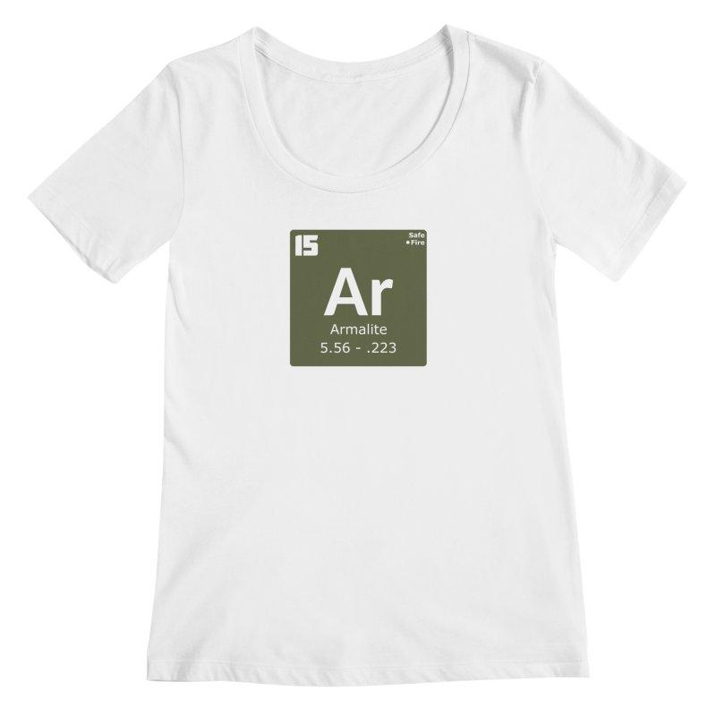 AR-15 Armalite Periodic Table Women's Regular Scoop Neck by Pixel Panzers's Merchandise