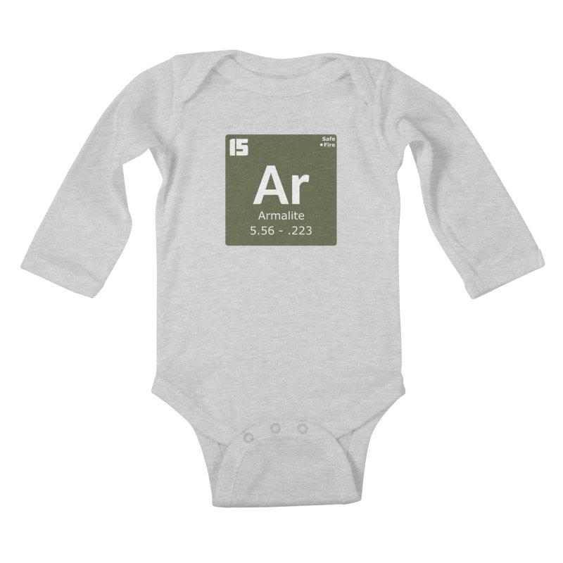 AR-15 Armalite Periodic Table Kids Baby Longsleeve Bodysuit by Pixel Panzers's Merchandise
