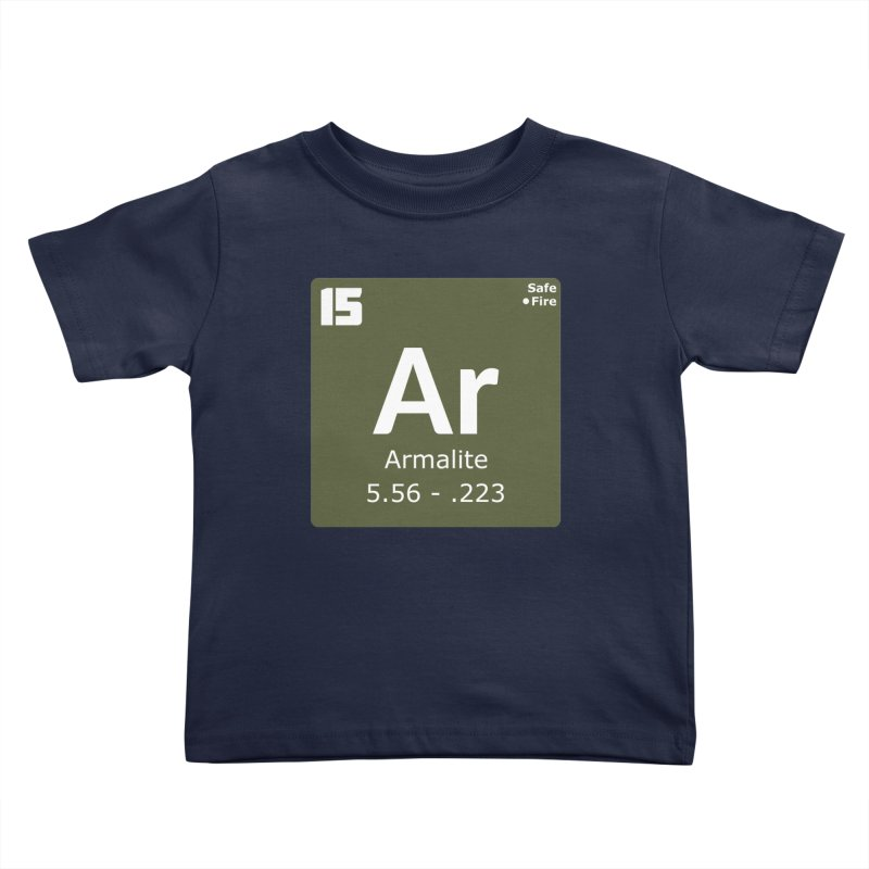 AR-15 Armalite Periodic Table Kids Toddler T-Shirt by Pixel Panzers's Merchandise