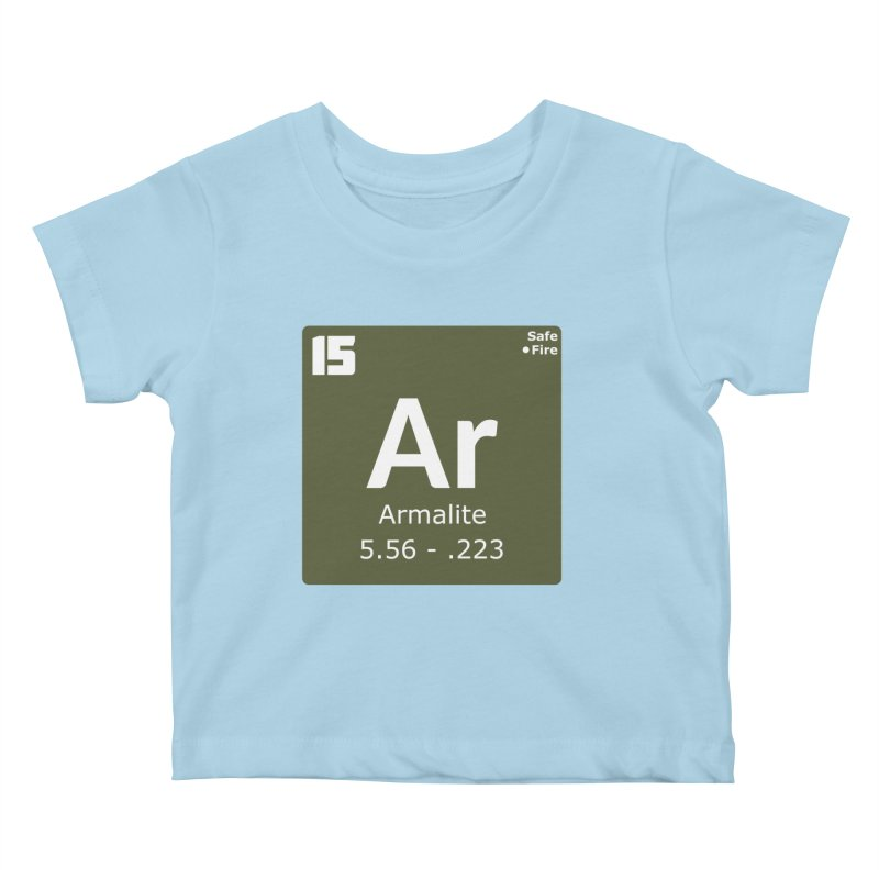 AR-15 Armalite Periodic Table Kids Baby T-Shirt by Pixel Panzers's Merchandise