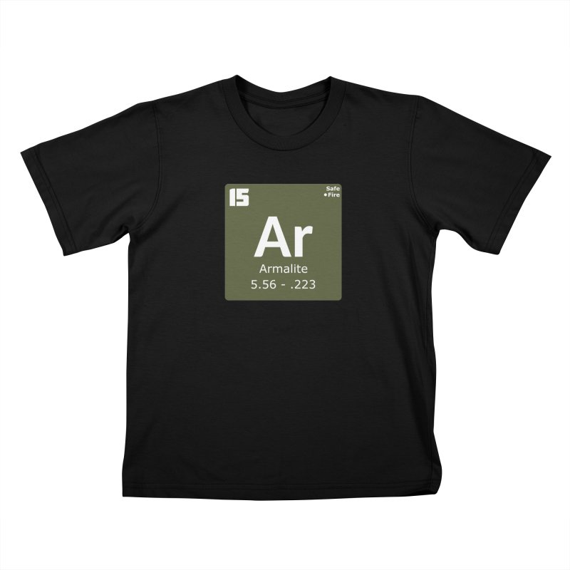 AR-15 Armalite Periodic Table Kids T-Shirt by Pixel Panzers's Merchandise