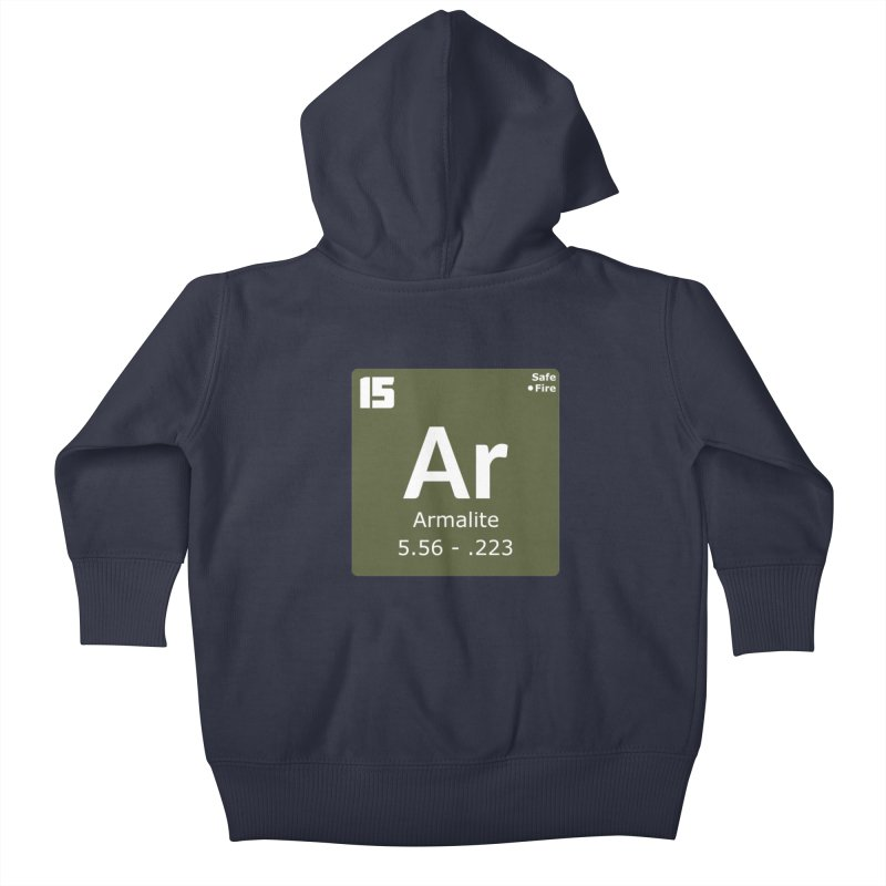 AR-15 Armalite Periodic Table Kids Baby Zip-Up Hoody by Pixel Panzers's Merchandise
