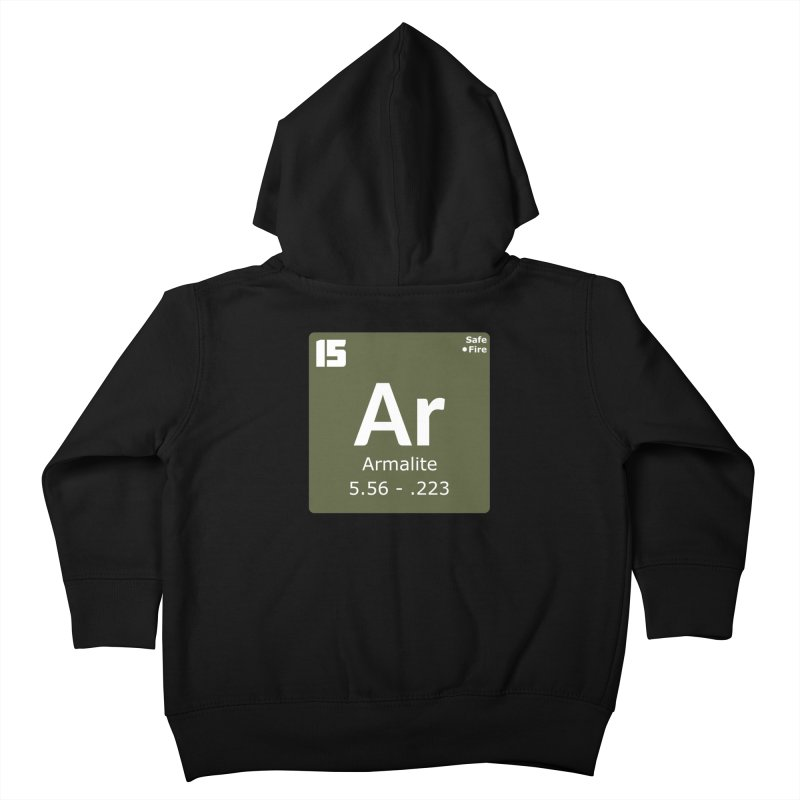 AR-15 Armalite Periodic Table Kids Toddler Zip-Up Hoody by Pixel Panzers's Merchandise