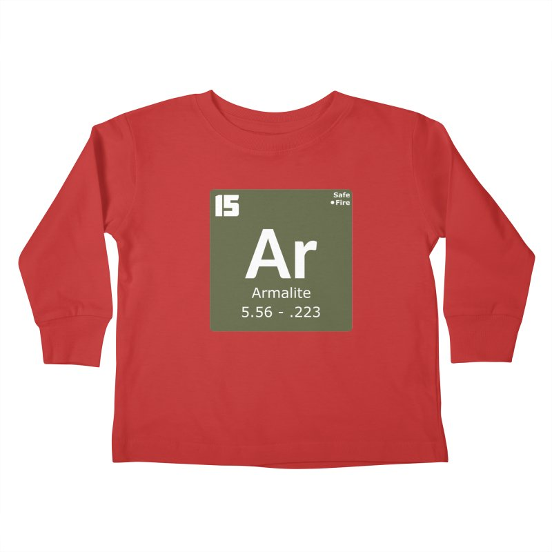 AR-15 Armalite Periodic Table Kids Toddler Longsleeve T-Shirt by Pixel Panzers's Merchandise
