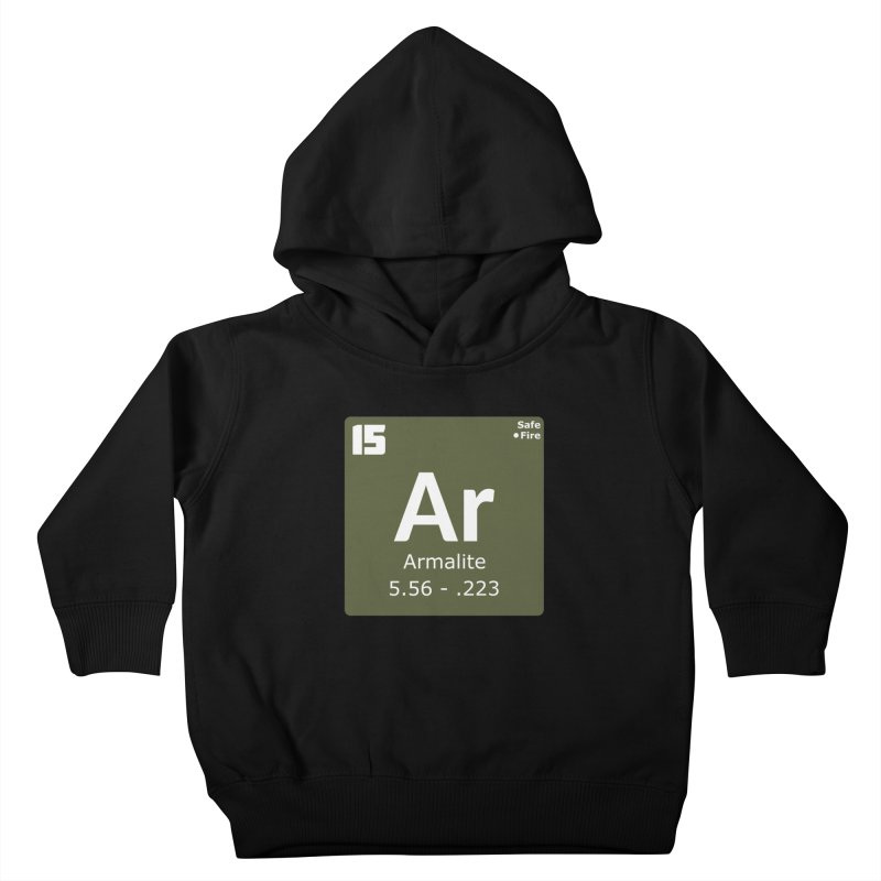 AR-15 Armalite Periodic Table Kids Toddler Pullover Hoody by Pixel Panzers's Merchandise