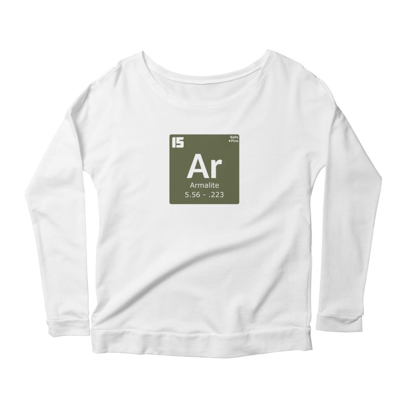 AR-15 Armalite Periodic Table Women's Scoop Neck Longsleeve T-Shirt by Pixel Panzers's Merchandise