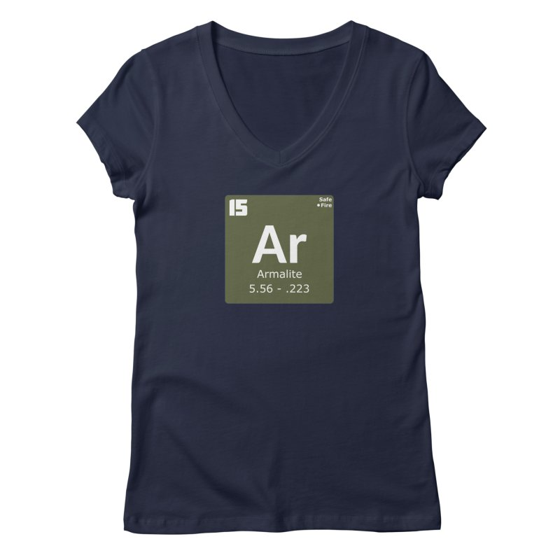 AR-15 Armalite Periodic Table Women's Regular V-Neck by Pixel Panzers's Merchandise