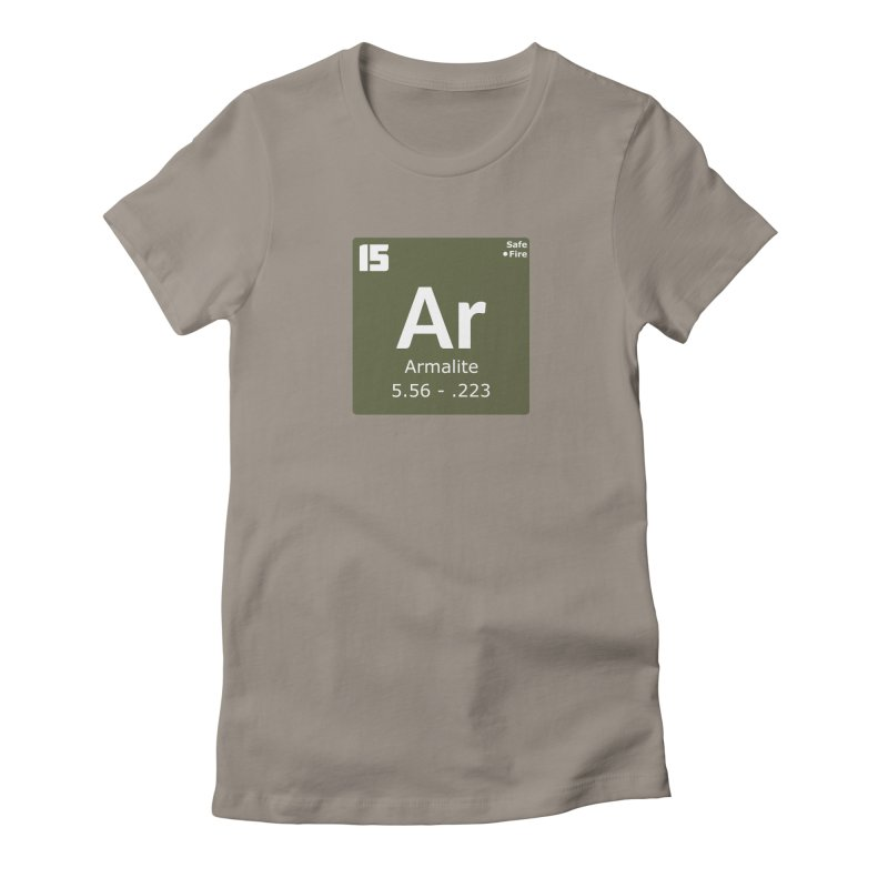 AR-15 Armalite Periodic Table Women's Fitted T-Shirt by Pixel Panzers's Merchandise