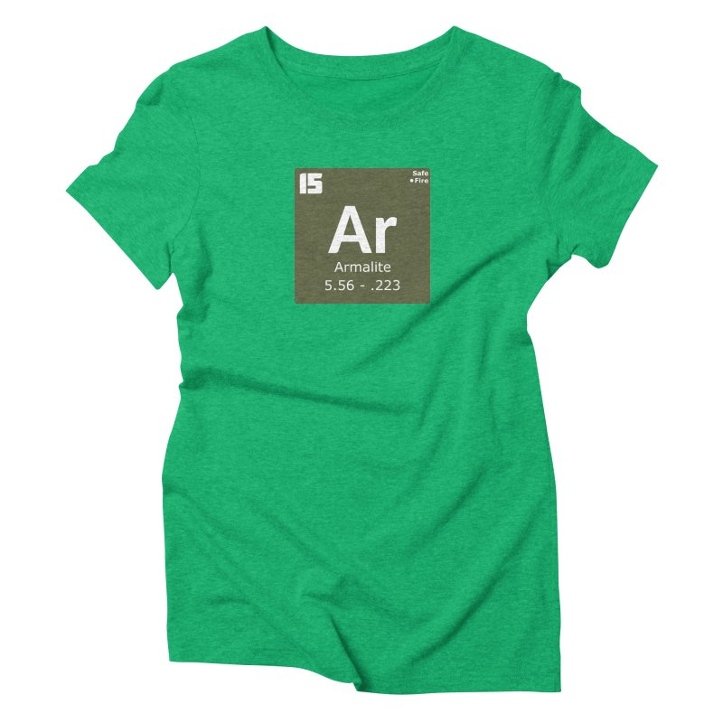 AR-15 Armalite Periodic Table Women's Triblend T-Shirt by Pixel Panzers's Merchandise