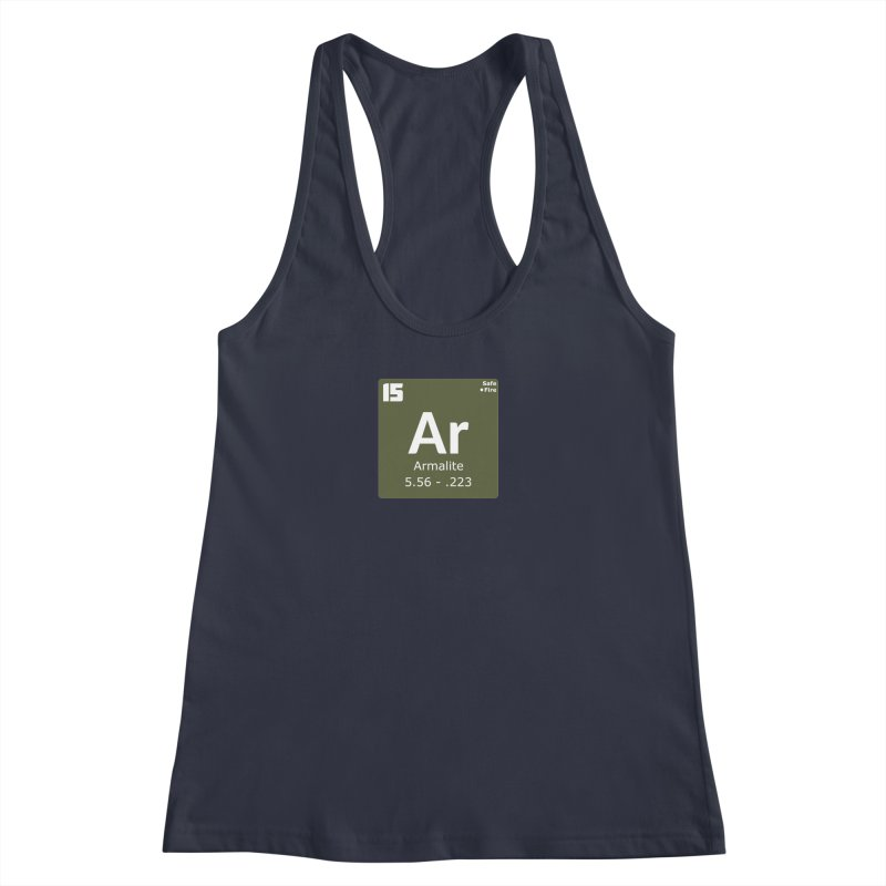AR-15 Armalite Periodic Table Women's Racerback Tank by Pixel Panzers's Merchandise