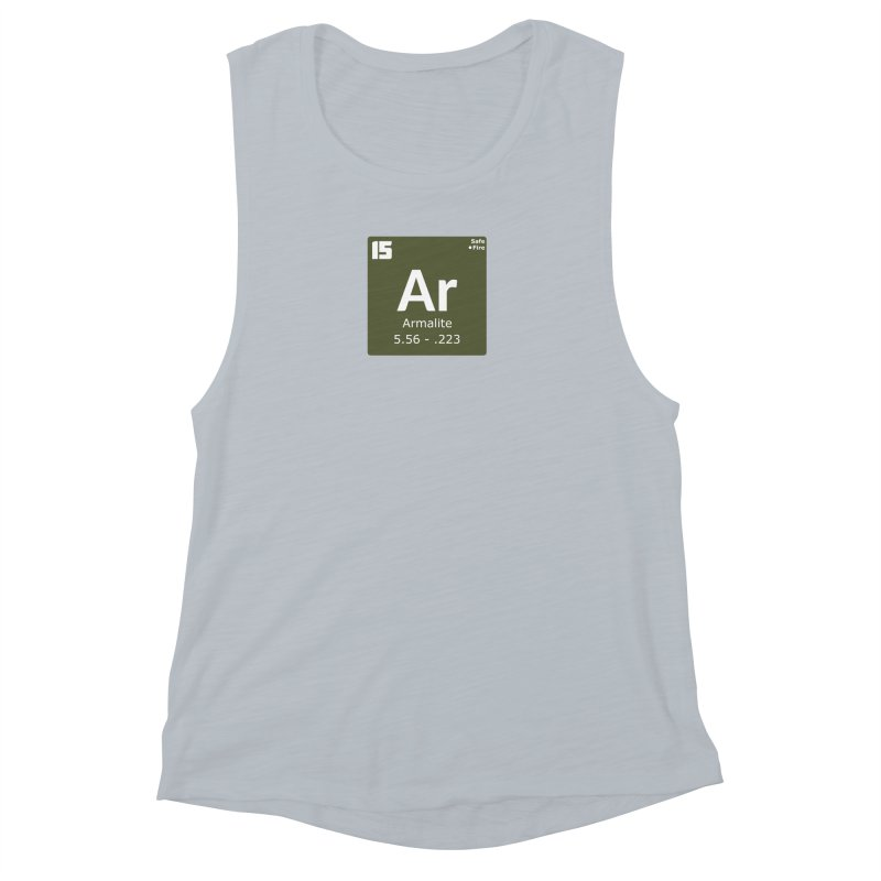 AR-15 Armalite Periodic Table Women's Muscle Tank by Pixel Panzers's Merchandise