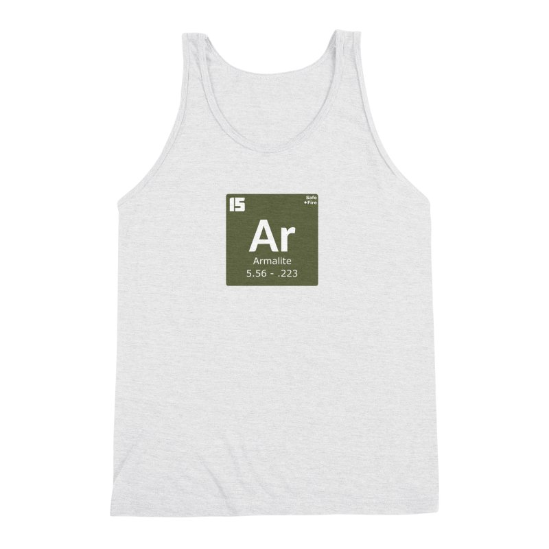 AR-15 Armalite Periodic Table Men's Triblend Tank by Pixel Panzers's Merchandise