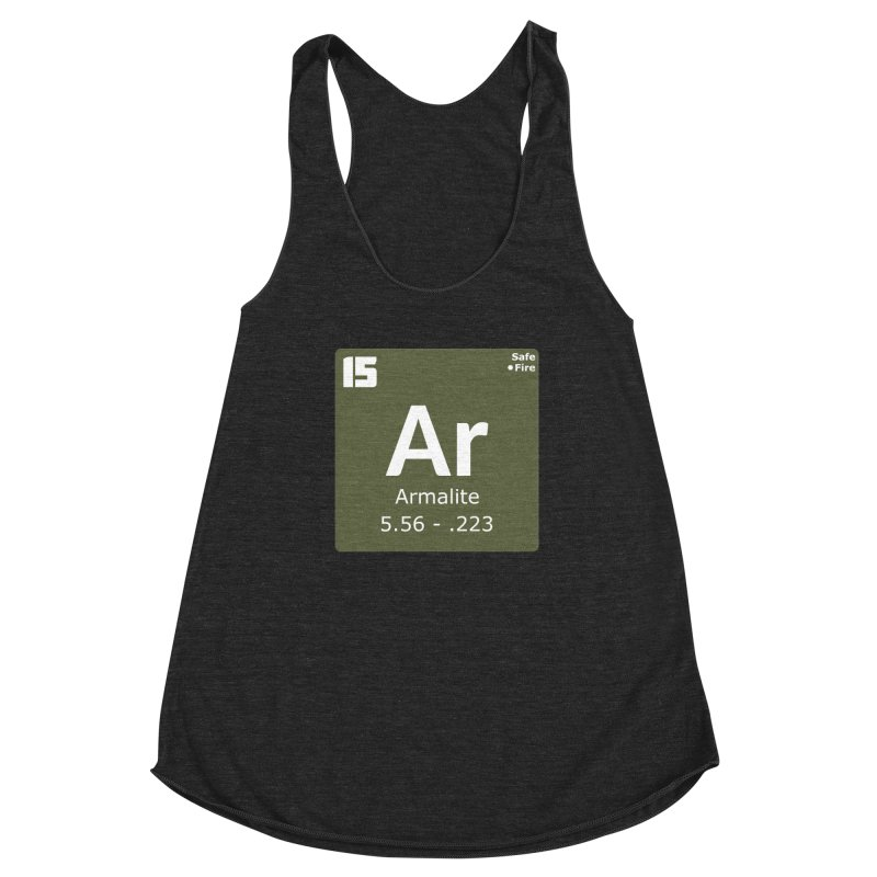 AR-15 Armalite Periodic Table Women's Racerback Triblend Tank by Pixel Panzers's Merchandise