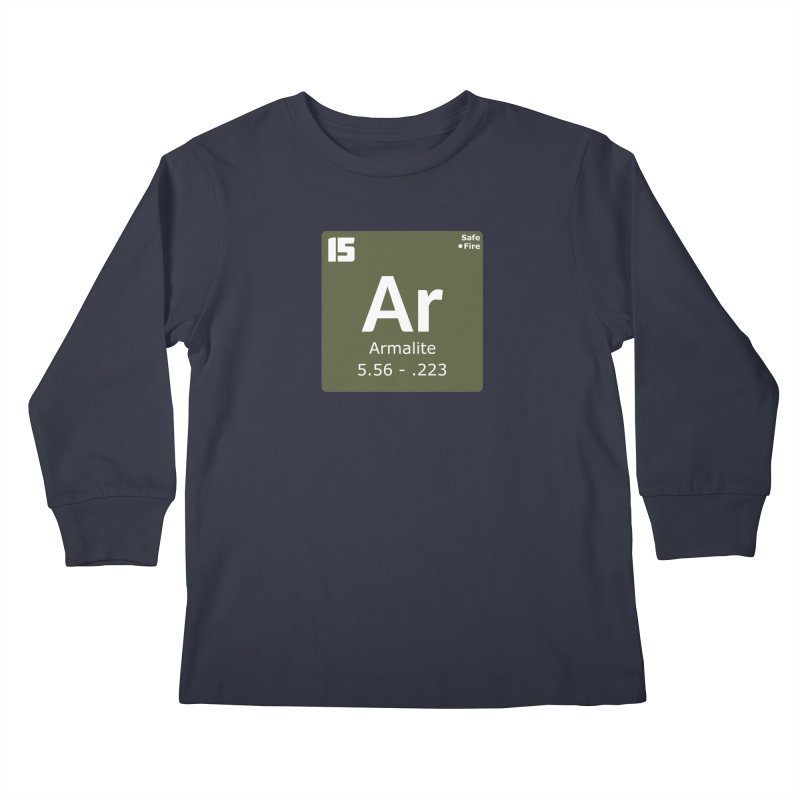 AR-15 Armalite Periodic Table Kids Longsleeve T-Shirt by Pixel Panzers's Merchandise