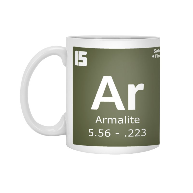 AR-15 Armalite Periodic Table Accessories Standard Mug by Pixel Panzers's Merchandise